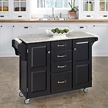 Home Styles 35.75 Wood & Granite Kitchen Cart
