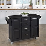 Home Styles 35.5 Asian Hardwood with Black Granite Kitchen Cart