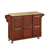 Home Styles 35.5 Sustainable Hardwood Cabinet Kitchen Cart