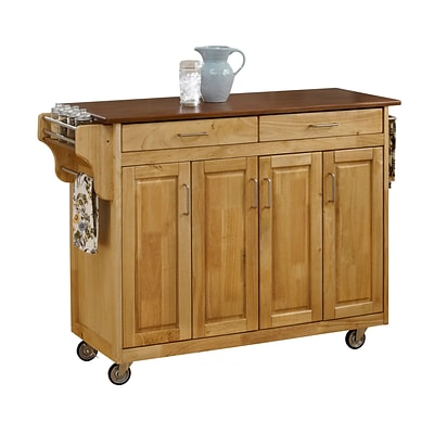Home Styles 34.75 Wood Kitchen Carts