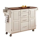 Home Styles 34.75 Solid Hardwood  Cabinet Kitchen Cart