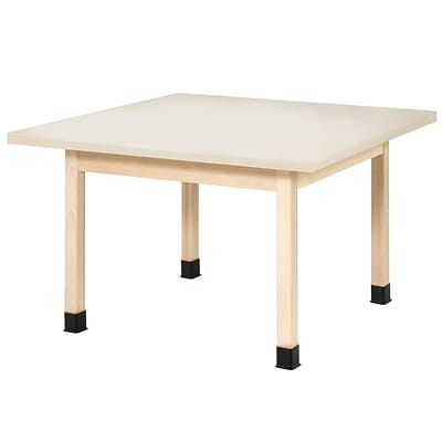 SHAIN Four-Student Table  30H x 48W x 48D Solid Maple