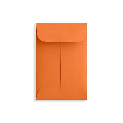 LUX #1 Coin Envelopes (2 1/4 x 3 1/2) 250/Box, Mandarin (LUX-1CO-11-250)