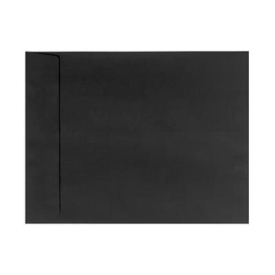 LUX 9 x 12 Open End Envelopes 50/Box) 50/Box, Black Linen (4894-BLI-50)
