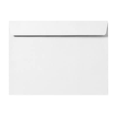LUX® 80 lb 6 x 9 Booklet Linen Envelopes, White, 50/Pack