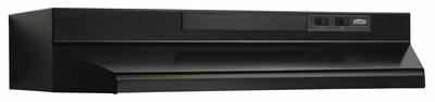 Broan 36'' 220 Cfm Convertible Under Cabinet Range Hood; Black