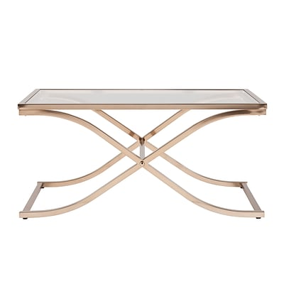 SEI Vogue 20 Metal Cocktail Table; Champagne Brass