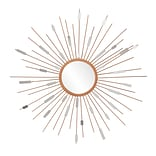 SEI 36 x 1.25 Starburst Mirrored Wall Sculpture, Painted Gold