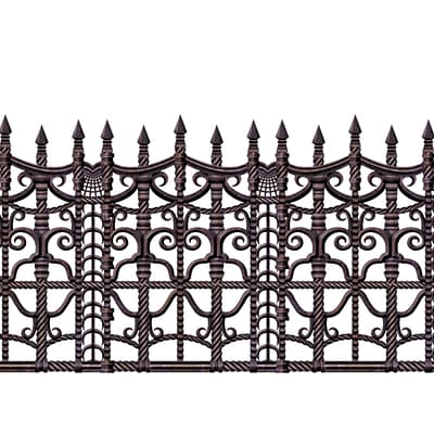Beistle 24 x 30 Creepy Fence Border; 2/Pack