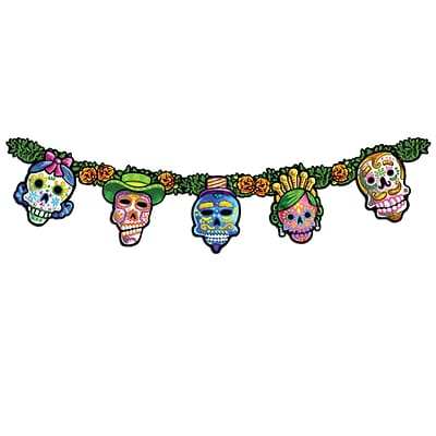 Beistle Day Of The Dead Streamer; 9 x 4 6