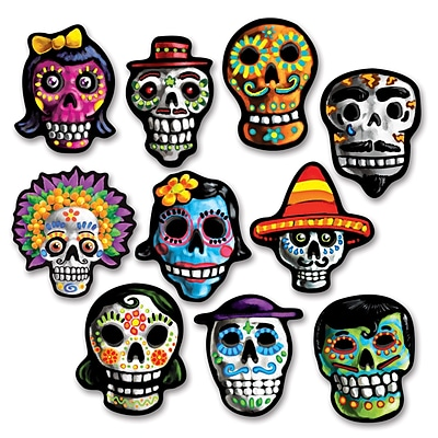 Beistle 4 3/4 Mini Day Of The Dead Cutouts; 70/Pack