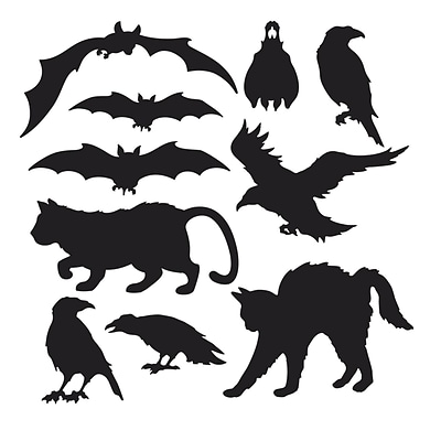 Beistle 5 - 12 1/2 Halloween Silhouettes; Black, 40/Pack