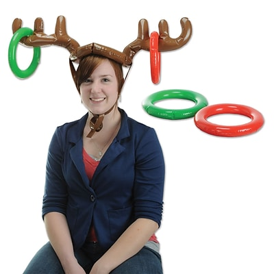 Beistle 27 & 7 1/4 Inflatable Reindeer Ring Toss; 2/Pack