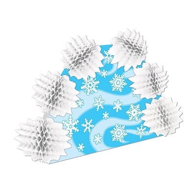 Beistle 10 Snowflake Pop-Over Centerpiece; 4/Pack