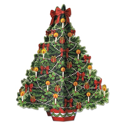 Beistle 11 3/4 3D Christmas Tree Centerpiece; 5/Pack