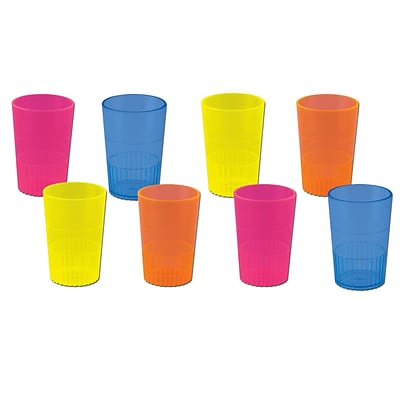 Beistle 1 1/2 oz. Neon Shot Glass; Assorted, 32/Pack
