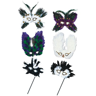 Beistle Ultima Fanci Feather Masks