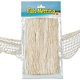 Beistle 4 x 12 Fish Netting, Natural White, 2/Pack