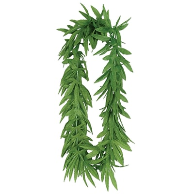 Beistle 40 Tropical Fern Leaf Lei; Green, 5/Pack