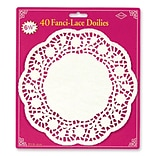 Beistle 6 1/2 White Fanci Lace Doilies