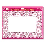 Beistle 10x14 1/2 Fanci Lace Place Mat