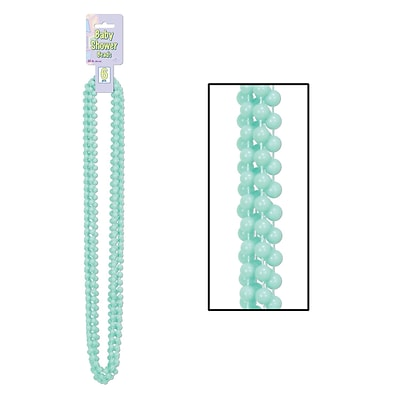 Beistle Baby Shower Beads Necklace; 33, Mint Green