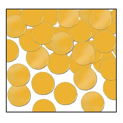 Beistle Dots Fanci Confetti; Gold, 5/Pack