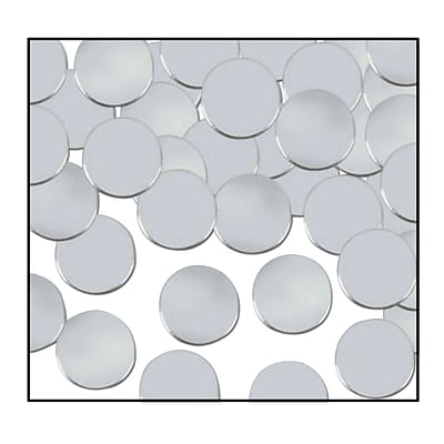 Beistle Dots Fanci Confetti; Silver, 5/Pack