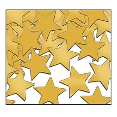 Beistle Stars Fanci Confetti; Gold, 5/Pack