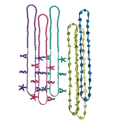 Beistle Luau Beads Necklace; 32, Assorted