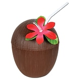 Beistle Brown 16 oz. Coconut Cup