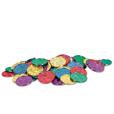 Beistle 1 1/2 Plastic Coins; Assorted, 200/Pack