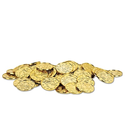 Beistle 1 1/2 Plastic Coins; Gold, 200/Pack