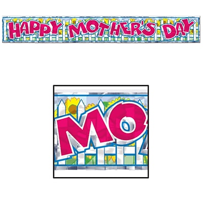 Beistle 8 x 5 Mothers Day Fringe Banner; 4/Pack