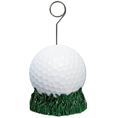 Beistle 6 oz. Golf Ball Photo/Balloon Holder; 3/Pack