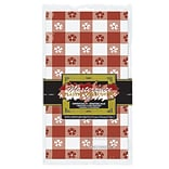 Beistle Red/White Gingham Tablecover