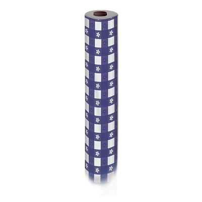 Beistle 40 x 100 Gingham Table Roll; Blue