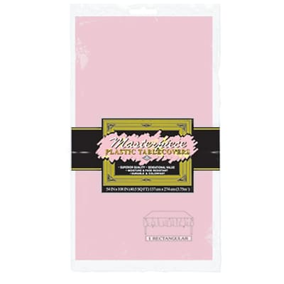 Beistle 54 x 108 Rectangular Tablecover; Pink, 5/Pack