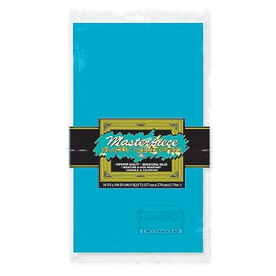 Beistle 54 x 108 Rectangular Tablecover; Turquoise, 5/Pack