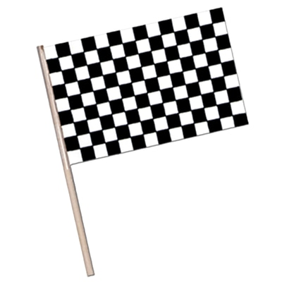 Beistle 4 x 6 Plastic Checkered Flag; 36/Pack