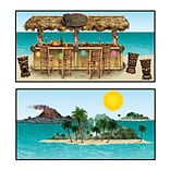 Beistle 9-4 5 Tiki Bar and Island Props