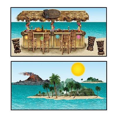 Beistle 9 - 4 5 Tiki Bar and Island Props; 16/Pack
