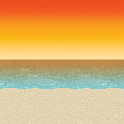 Beistle 4 x 30 Luau Sunset Backdrop
