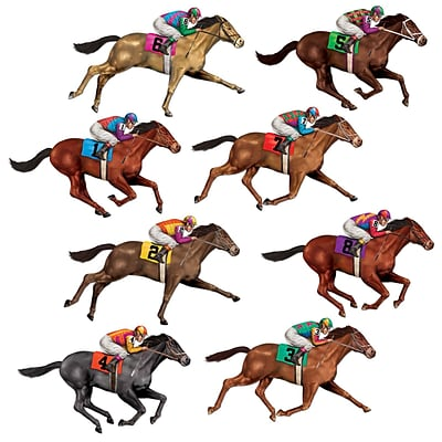 Beistle 29 Race Horse Props; 16/Pack