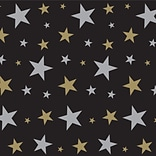 Beistle 4x30 Gold Star Backdrop