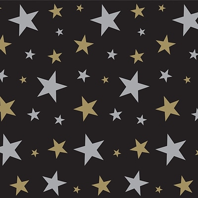Beistle 4 x 30 Gold Star Backdrop
