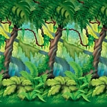 Beistle 4x30 Jungle Trees Backdrop