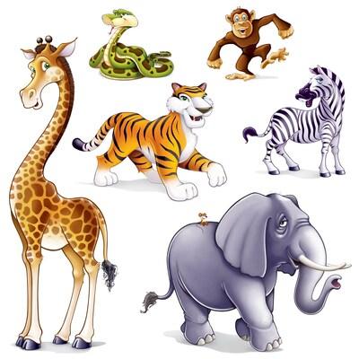 "Beistle 15""-5' 3"" Jungle Animal Props"