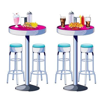 Beistle Soda Shop Tables & Stools Prop