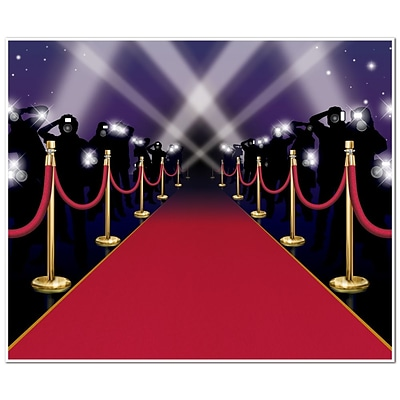 Beistle 5 x 6 Red Carpet InstaMural Wall Decoration; 2/Pack